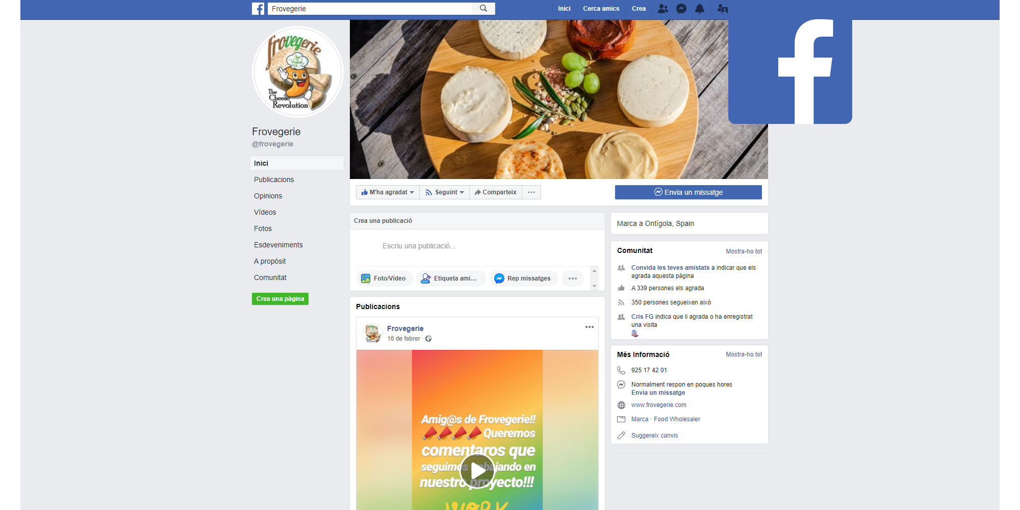 Facebook Frovegerie